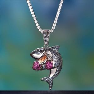 Other - MoCa Jewelry Hip Hop Iced Out Boxing Shark Pendant